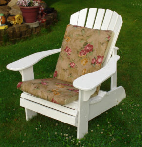 White Painted Adirondack Chair