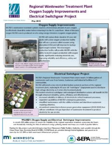 Oxygen Production and Switchgear Improvements 2018 fact sheet | WLSSD