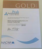 WLSSD NACWA Peak Performance Gold award 2019